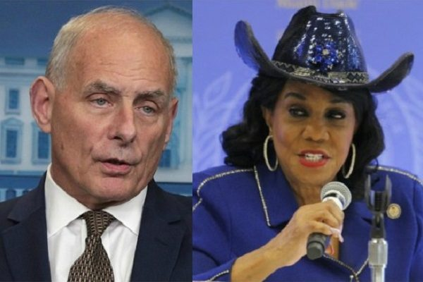 General John Kelly & Rep Frederica Wilson